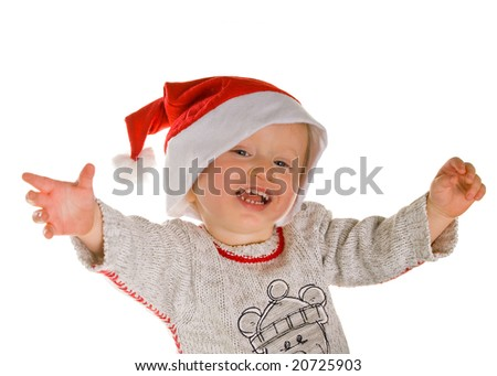Christmas Santa Baby - stock photo
