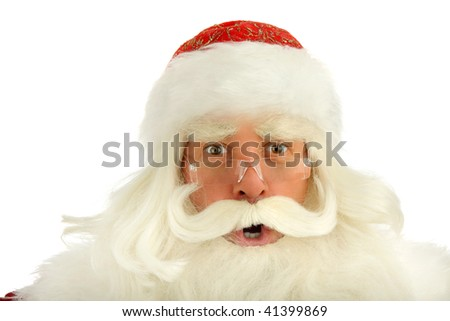 Christmas Santa Claus  . Isolated on white - stock photo
