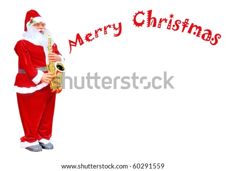 christmas santa Claus isolated on white background - stock photo