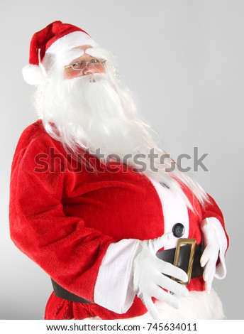 Christmas Santa Claus with a big fat belly.