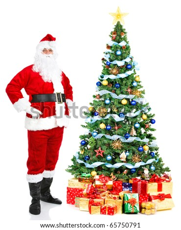 Christmas Santa. Isolated over white background
