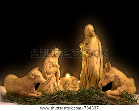christmas scene - stock photo