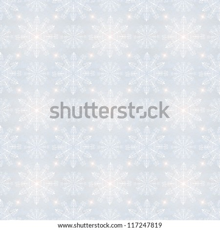 Christmas seamless background with snowflakes.