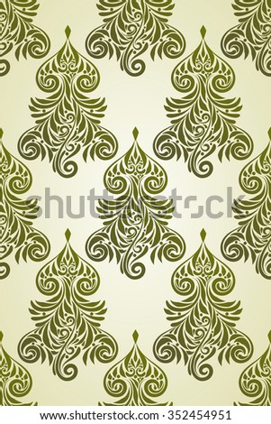Christmas Seamless Pattern with Fir Tree - stock photo
