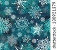 Christmas Seamless Pattern With Snowflakes. Raster Version - stock