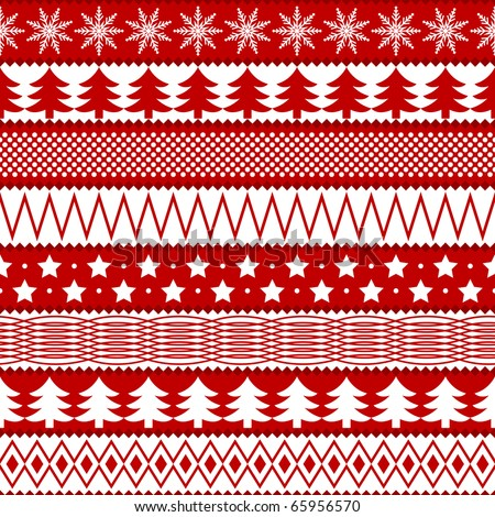 Christmas seamless texture in traditional colors - stock photo