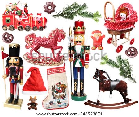 Christmas set - stock photo
