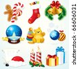 Christmas Set - detailed clip art include: gifts, sweets, decoration, symbols and other festive design elements --------------> VECTOR VERSION AT MY GALLERY - stock photo