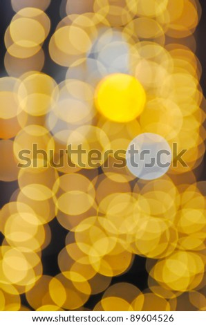 Christmas shiny light  bokeh in yellow colors