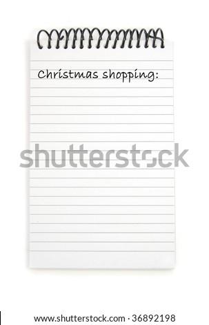 Christmas shopping list - stock photo