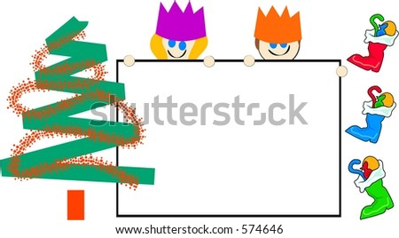 Christmas sign kids