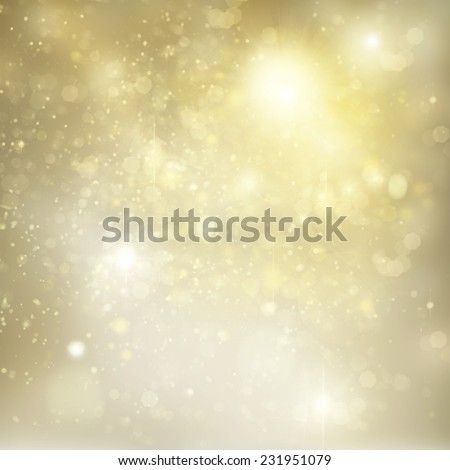 christmas silver  and gold background with bright  sparkles and lights - stock photo