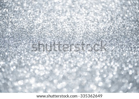 Christmas silver and white sparkle glitter background - stock photo