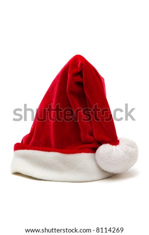 Christmas small red hat - stock photo