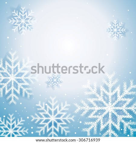 Christmas snow flakes abstract background. - stock photo