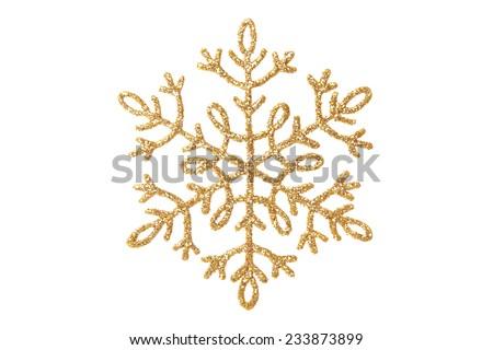 Christmas snowflake - stock photo