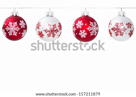 Christmas Snowflake Ornaments - stock photo