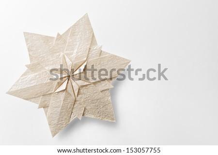 christmas snowflake paper 3d - stock photo