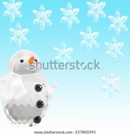 Christmas snowflakes background.  - stock photo