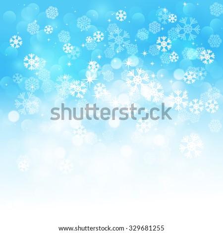 Christmas snowflakes background - stock photo