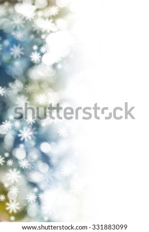 Christmas Snowflakes Blurred Background - stock photo
