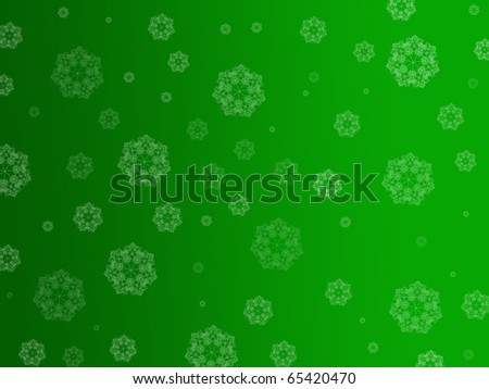 Christmas snowflakes isolated against a red background - stock photo