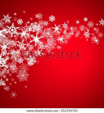 Christmas Snowflakes - On a Burgundy Background - Raster Version - stock photo