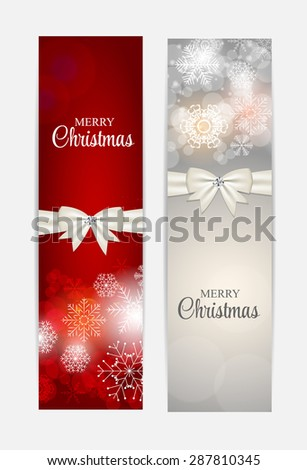 Christmas Snowflakes Website Header and Banner Set Background  Illustration