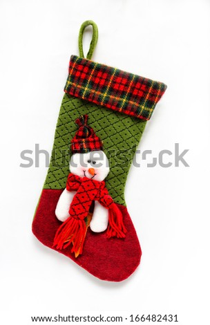 Christmas sock - stock photo