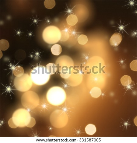 Christmas sparkle background with stars and bokeh lights