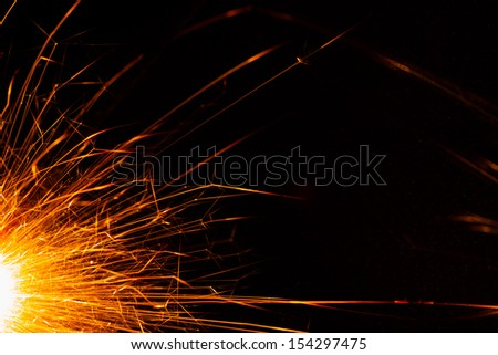 christmas sparkler backdrop with copy-space - stock photo