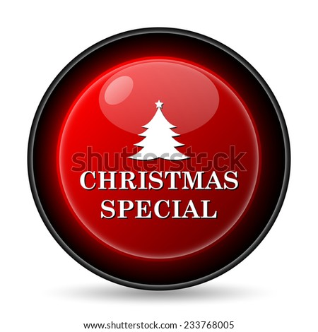 Christmas special icon. Internet button on white background.  - stock photo