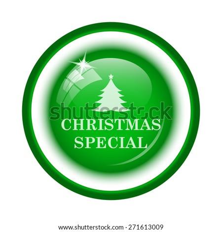 Christmas special icon. Internet button on white background.  - stock photo
