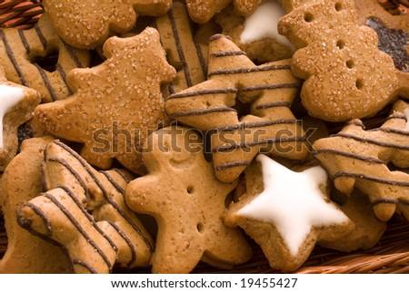 Christmas spice-cakes - stock photo