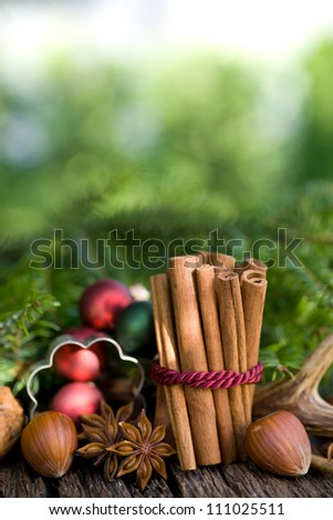 Christmas spices - stock photo