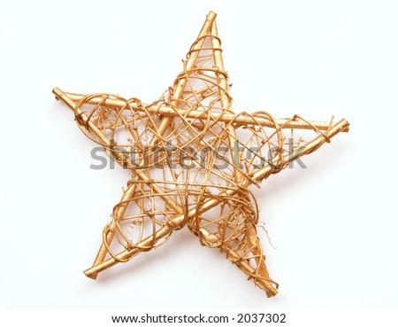 Christmas star - stock photo