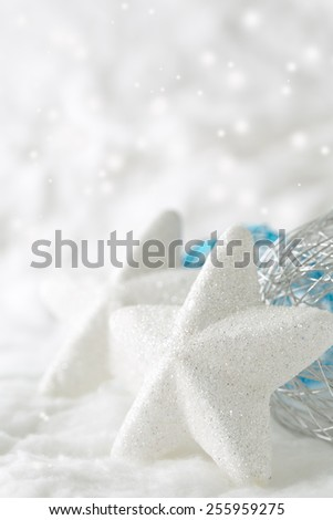 Christmas star decoration with copy space  - stock photo