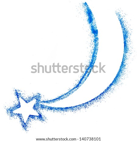 Christmas Star isolated on white paper background - stock photo