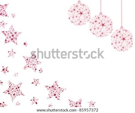 christmas stars and balls - stock photo