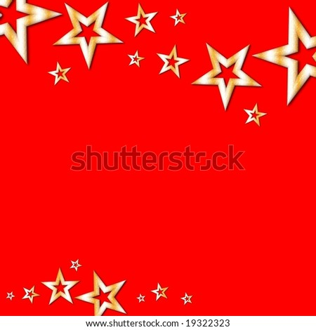 Christmas stars on red