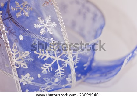 Christmas stars with festive ribbon - stock photo
