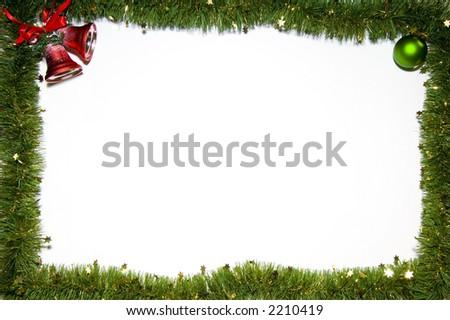 Christmas still-life isolated on white background - stock photo