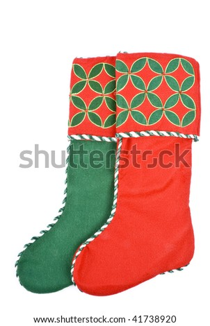Christmas Stockings Isolated on White