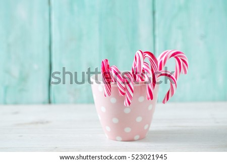 Christmas striped candies