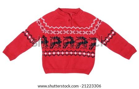 Christmas style sweater - stock photo