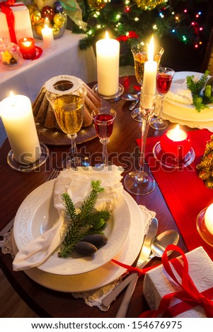 Christmas table is ready - stock photo
