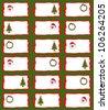 Christmas Tags/Stickers - stock photo