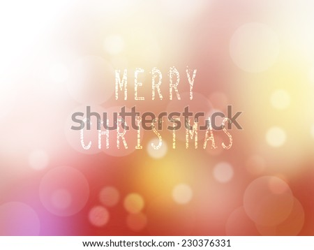 christmas theme backdrop, wallpaper, card & background. Glitter lights of christmas text wordings. Celebration, holiday, warm, happy, merry, festive, modern idea design. Advertising, greeting, sales. - stock photo