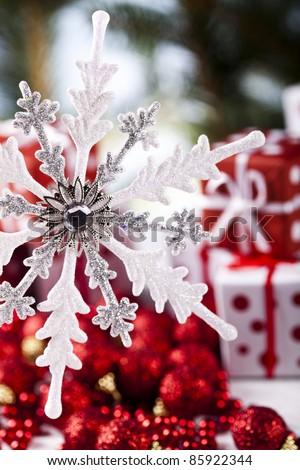 Christmas time and Christmas tree - stock photo