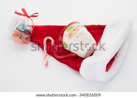 Christmas time concept, chocolate and gift for Xmas